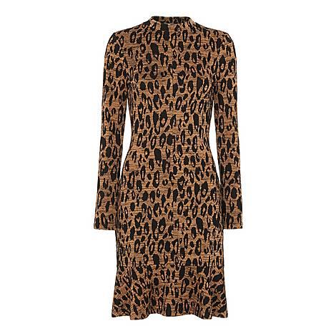Animal Jersey Flippy Dress, ${color}