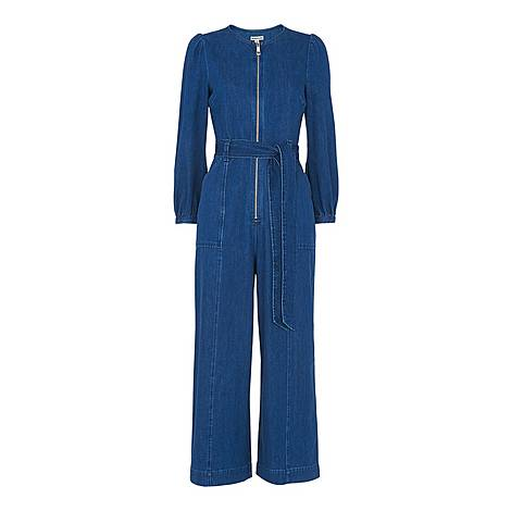 Estelle Denim Jumpsuit, ${color}
