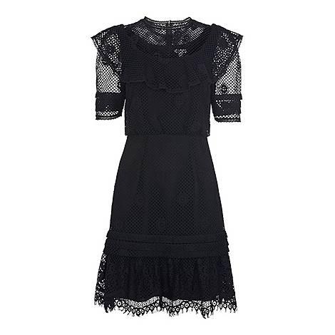 Mariah Lace Ruffle Dress, ${color}