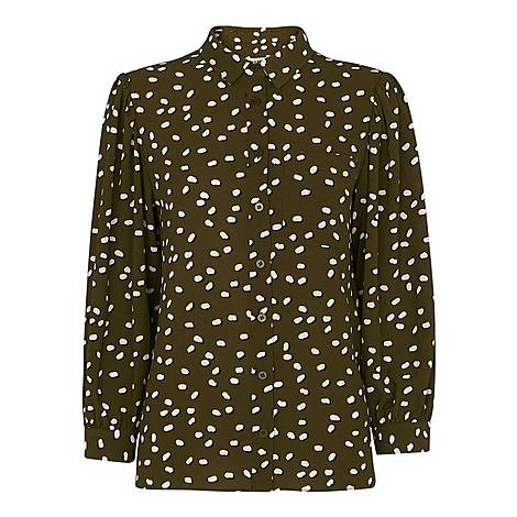 Shadow Spot Print Shirt, ${color}