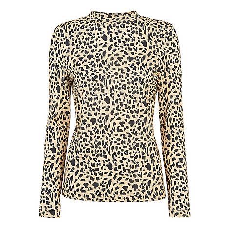 Brushed Cheetah Essential Top, ${color}