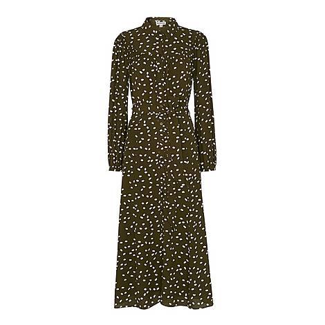 Shadow Spot Print Dress, ${color}