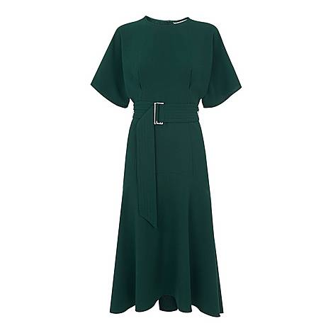 Textured Belted Midi Dress, ${color}