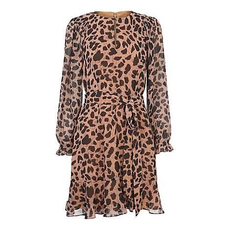 Brushed Cheetah Mini Dress, ${color}