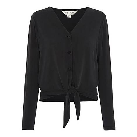 Button Tie Front Cardigan, ${color}