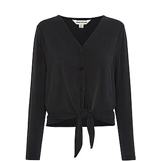 Button Tie Front Cardigan