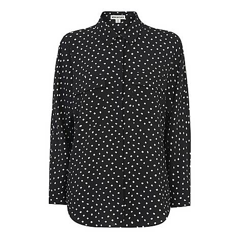 Abstract Spot Selma Blouse, ${color}