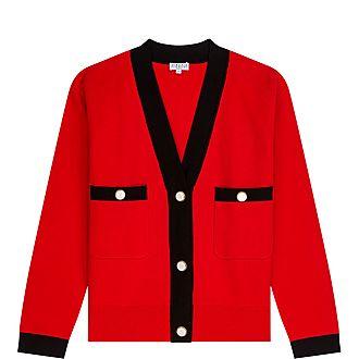 Red & Black Cardigan