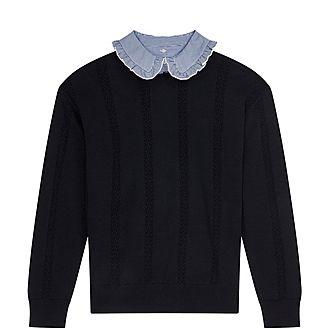 Open-Stitch Sweater