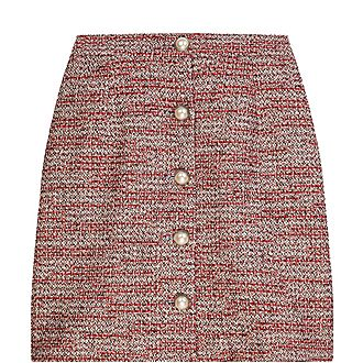 Buttoned Mini Skirt