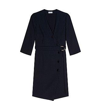 Striped Crossover Dress