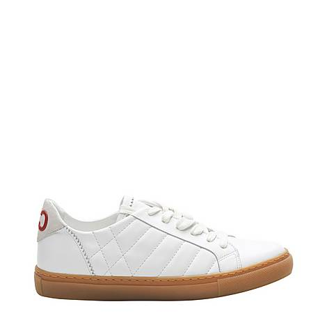 Contrasting Sole Leather Trainers, ${color}