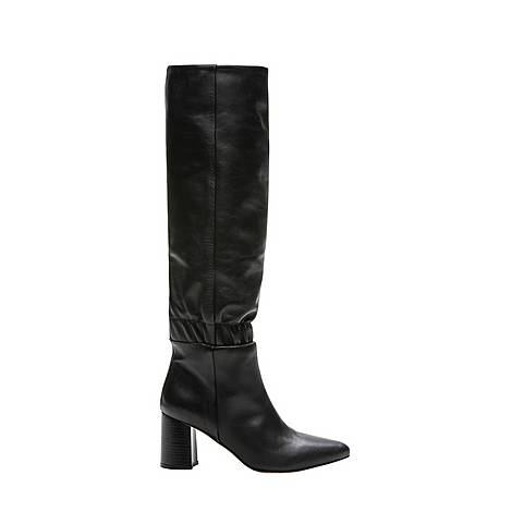 Block Heeled Leather Boots, ${color}
