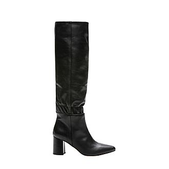 Block Heeled Leather Boots