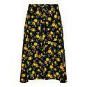 Floral Patterned Silk Midi Skirt, ${color}