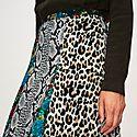 Long Leopard Print Skirt, ${color}