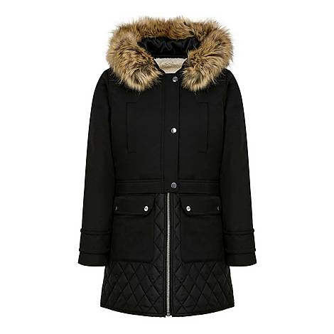 Faux Fur Hooded Coat, ${color}