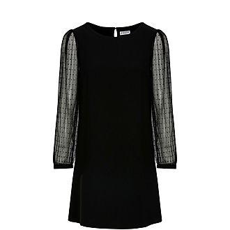 Plumetis Sleeved Dress