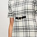 Belted Checked Tweed Dress, ${color}