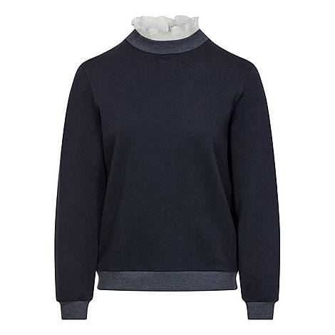 Two-in-One Collared Sweatshirt, ${color}