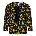 Floral Patterned Silk Blouse, ${color}
