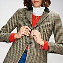 Gingham Suit Jacket, ${color}