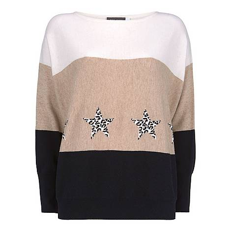 Star Colour Block Sweater, ${color}