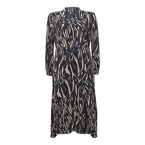Sara Animal Print Midi Dress, ${color}