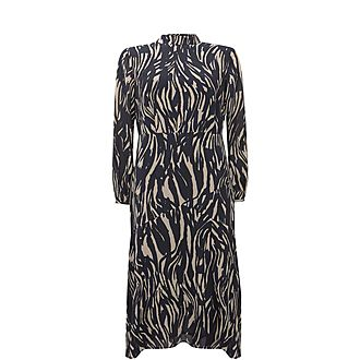 Sara Animal Print Midi Dress