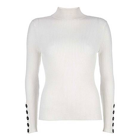 Fine Ribbed Button Knit, ${color}