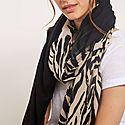 Naomi Zebra Print Scarf, ${color}