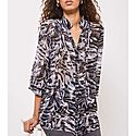 Izzy Print Pintucked Blouse, ${color}