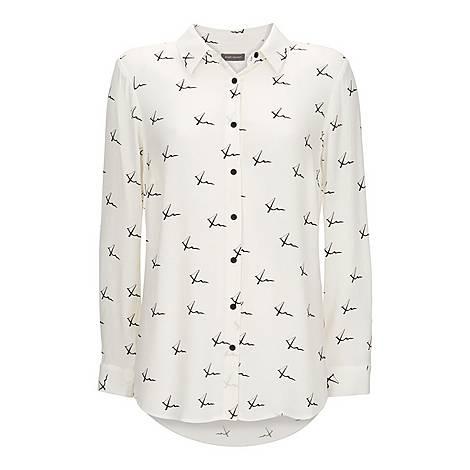 Kisses Print Shirt, ${color}