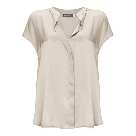 Silk Satin Front Top, ${color}