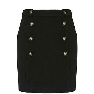 Tweed Military Mini Skirt