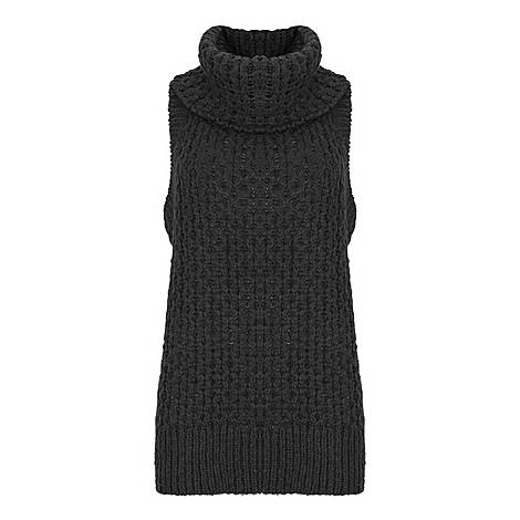 Textured Knitted Vest, ${color}