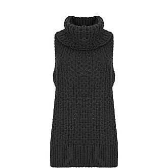 Textured Knitted Vest