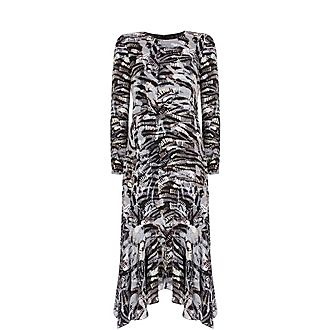 Izzy Puff Sleeve Midi Dress