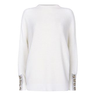 Buttoned Batwing Jumper