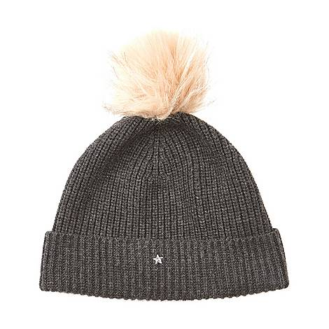 Pom Pom Knitted Hat, ${color}