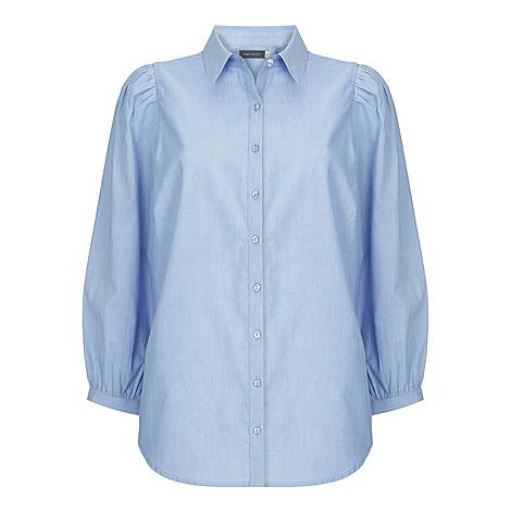 Puffed Chambray Shirt, ${color}