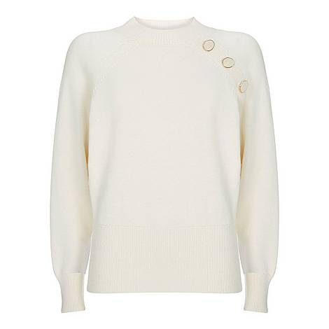 Button Batwing Sweater, ${color}