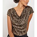 Sequin Front Cowl Top, ${color}
