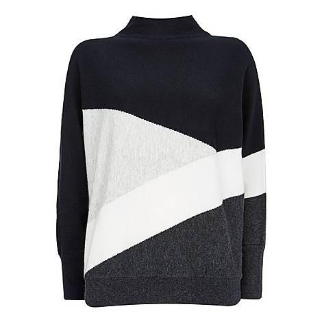 Colourblock Batwing Sweater, ${color}