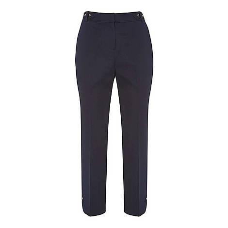 Eyelet Capri Trousers, ${color}