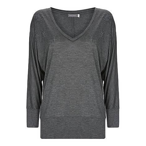 Star V-Neck T-Shirt, ${color}