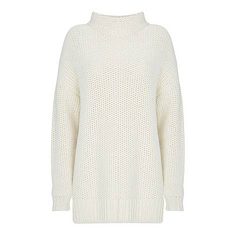 Chunky Roll Neck Jumper, ${color}