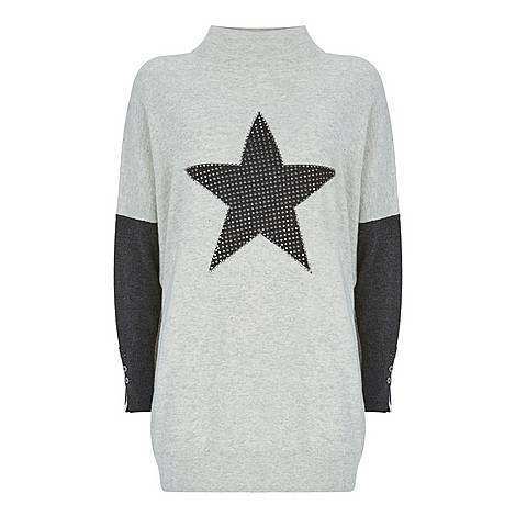 Studded Star Knit Tunic, ${color}