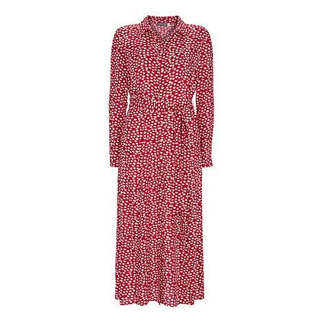 Poppy Lips Midi Shirt Dress, ${color}