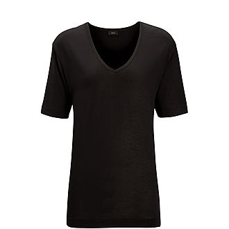 Silk V Neck T-Shirt